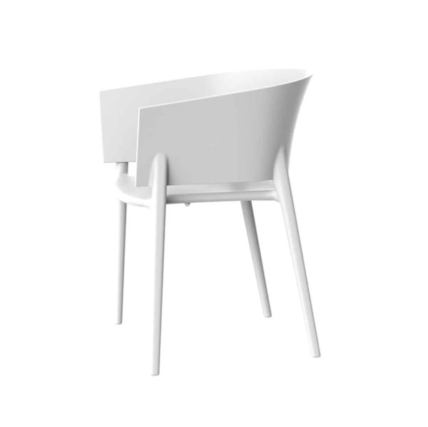 Greve Armchair Vondom Africa Stackable At DeFrae Contract Furniture White Side