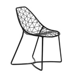 Gumdrop Chair Wire Outdoor chair DeFrae Contract Furniture