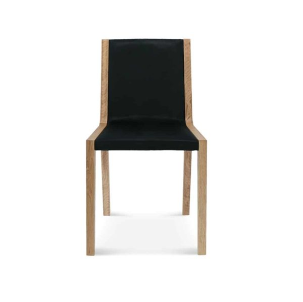 Half and Half Side Chair Teba A 1606 Fameg DeFrae Contract Furniture Front View