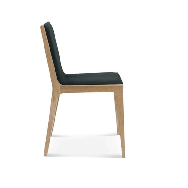 Half and Half Side Chair Teba A 1606 Fameg DeFrae Contract Furniture Side View