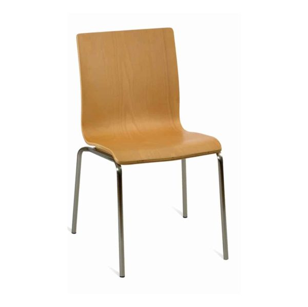 Hall Side Chair Natural DeFrae Contract Furniture