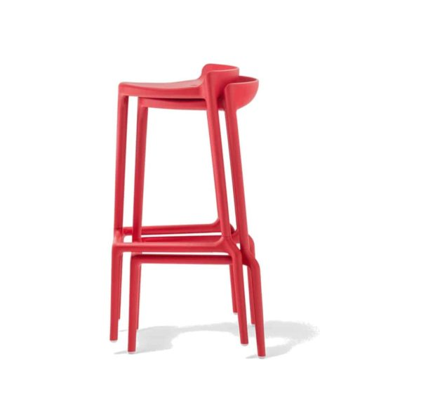 Happy Bar Stool Pedrali at DeFrae Contract Furniture Red Stackable