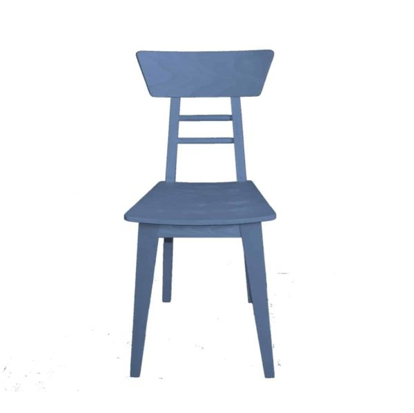 Harlow Side Chair Wood Restaurant Chair DeFrae Contract Furniture Blue