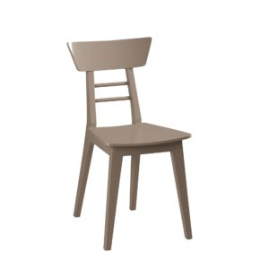 Harlow Side Chair Wood Restaurant Chair DeFrae Contract Furniture Grey