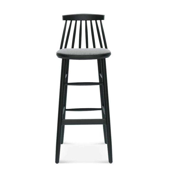 Hartley Bar Stool Spindle Back Wood Bar Stool J77 Model Upholstered Seat