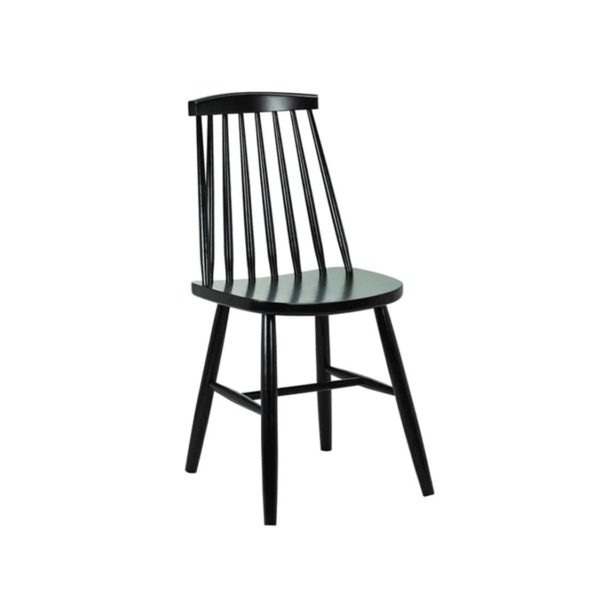 Henry Side Chair Spindle Back Wood Chair Cottage DeFrae Contract Furniture Black