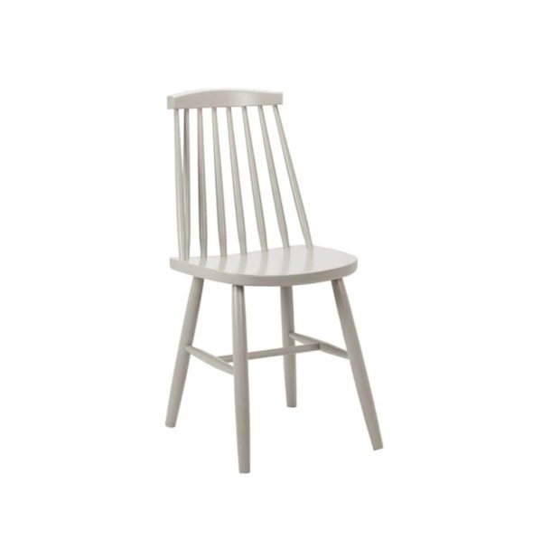 Henry Side Chair Spindle Back Wood Chair Cottage DeFrae Contract Furniture Grey
