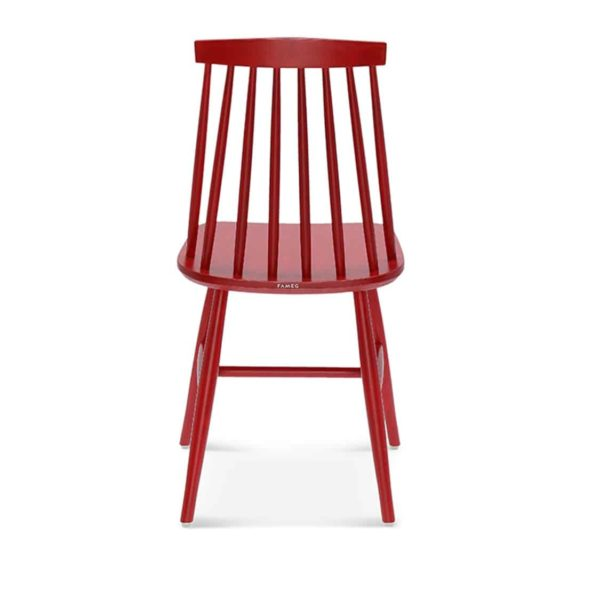 Henry Side Chair Spindle Back Wood Chair Cottage DeFrae Contract Furniture Red Back