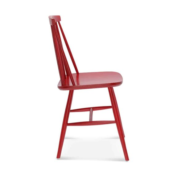 Henry Side Chair Spindle Back Wood Chair Cottage DeFrae Contract Furniture Red Side