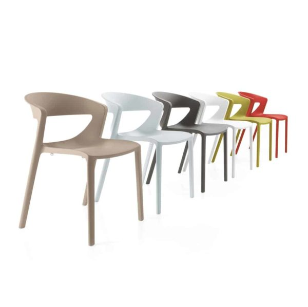 Hula Side Chair Kikka One DeFrae Contract Furniture Colours Range