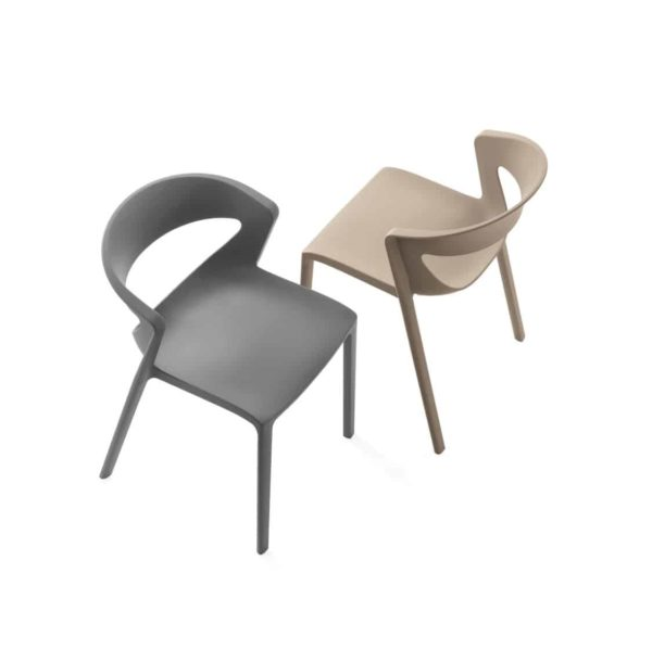 Hula Side Chair Kikka One DeFrae Contract Furniture Grey & Taupe