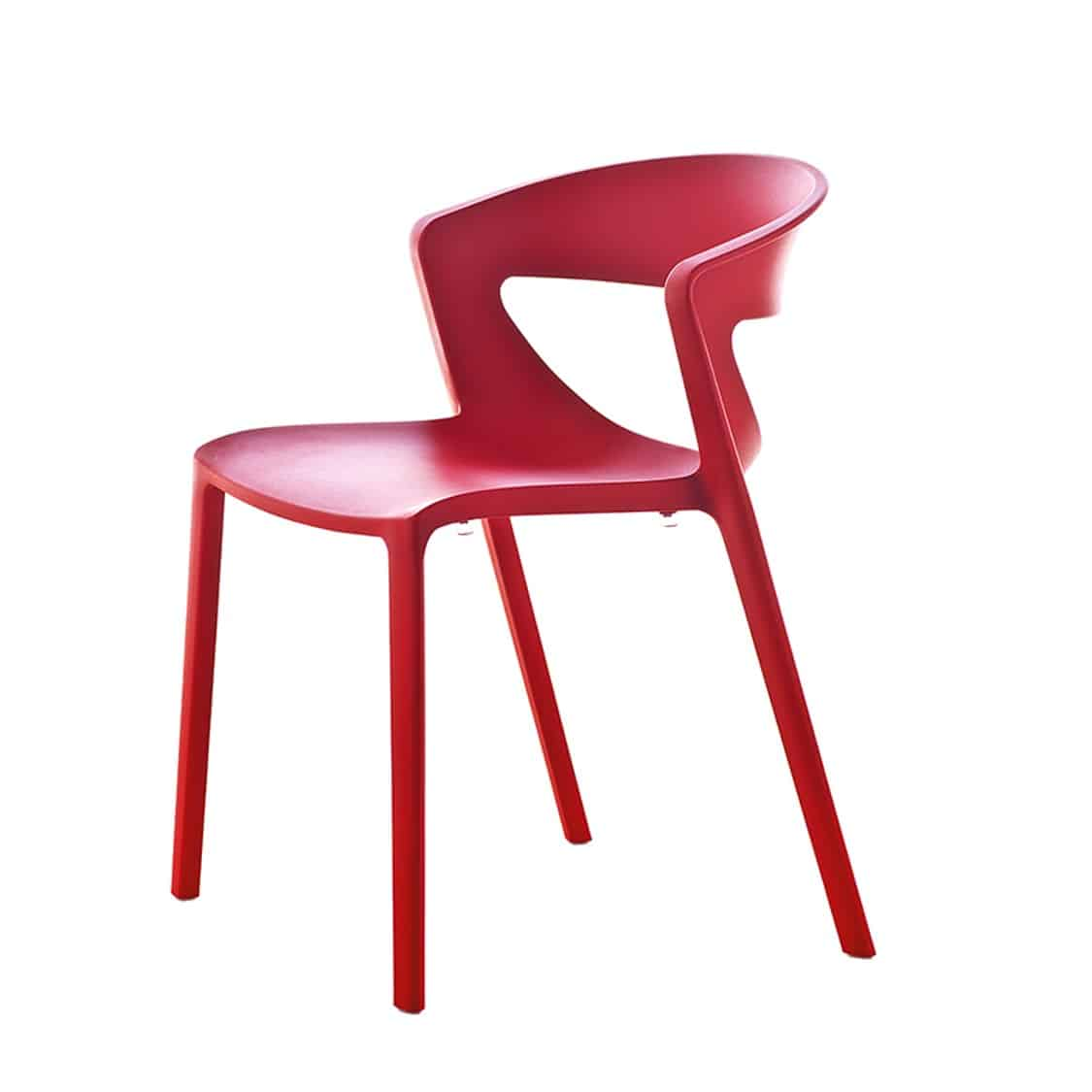 Hula Side Chair Kikka One DeFrae Contract Furniture Red