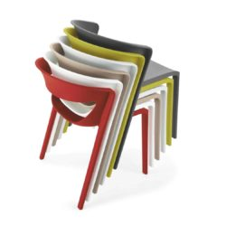 Hula Side Chair Kikka One DeFrae Contract Furniture Stackable