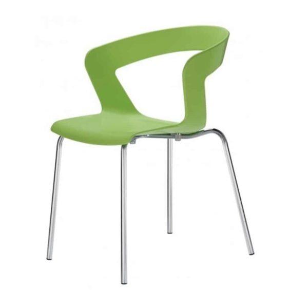 Ibis Armchair Stackable Outdoor Chair ETAL DeFrae Contract Furniture Green