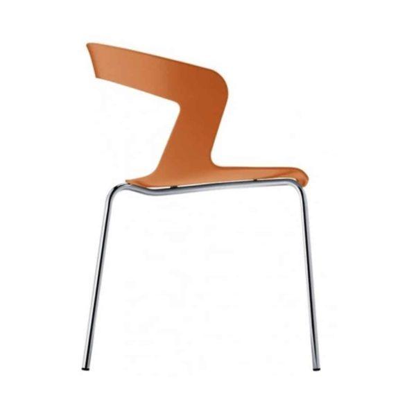 Ibis Armchair Stackable Outdoor Chair ETAL DeFrae Contract Furniture Orange