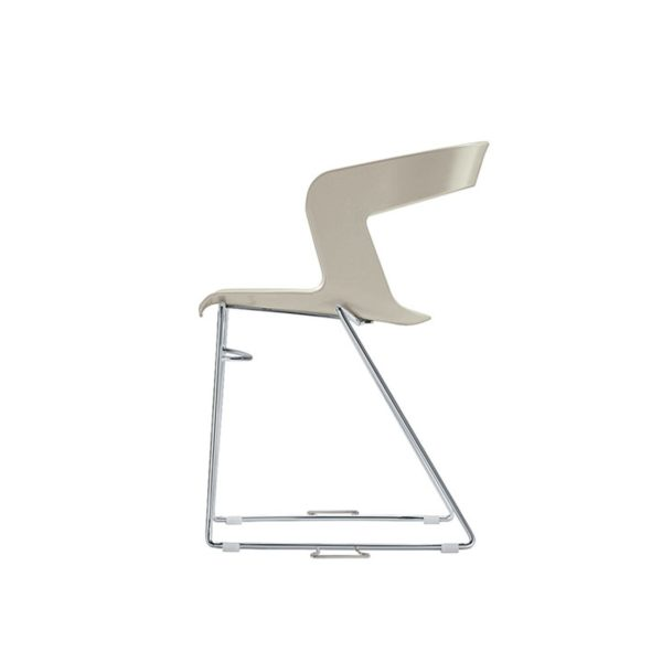 Ibis Armchair Stackable Outdoor Chair ETAL DeFrae Contract Furniture White Sled Base