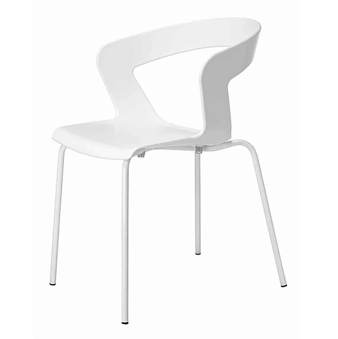 Ibis Armchair Stackable Outdoor Chair ETAL DeFrae Contract Furniture White