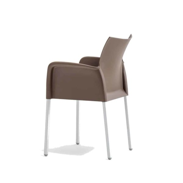 Ice Armchair Pedrali at DeFrae Contract Furniture Brown Back View
