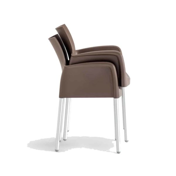 Ice Armchair Pedrali at DeFrae Contract Furniture Brown Stackable