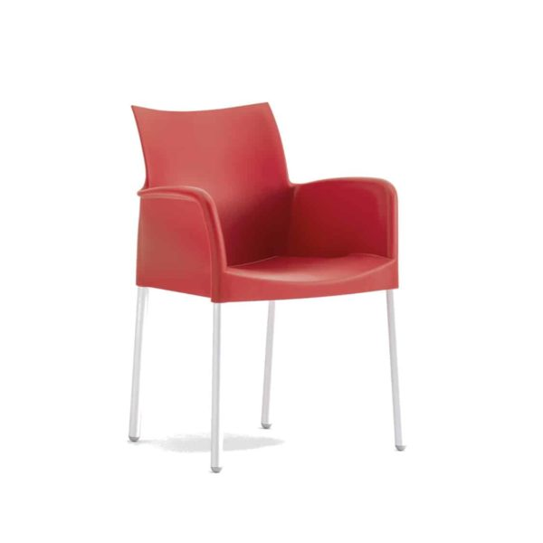 Ice Armchair Pedrali at DeFrae Contract Furniture Red