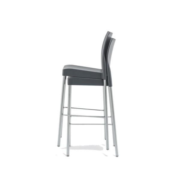 Ice Bar Stool Pedrali at DeFrae Contract Furniture Black Stackable