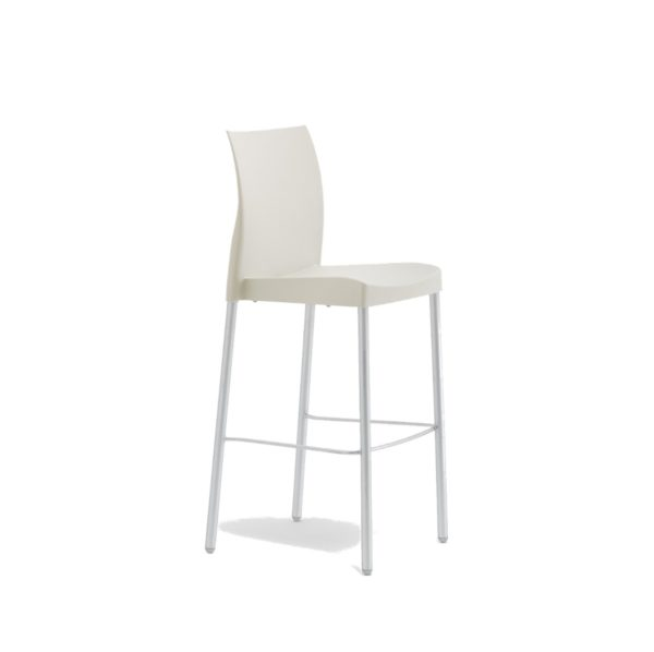 Ice Bar Stool Pedrali at DeFrae Contract Furniture White