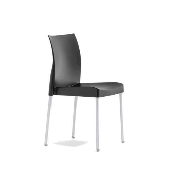 Ice Side Chair Pedrali at DeFrae Contract Furniture Stackable Black
