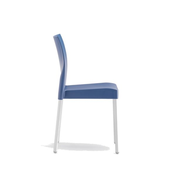 Ice Side Chair Pedrali at DeFrae Contract Furniture Stackable Blue