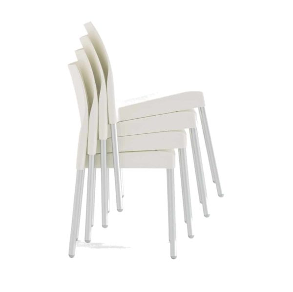 Ice Side Chair Pedrali at DeFrae Contract Furniture Stackable White