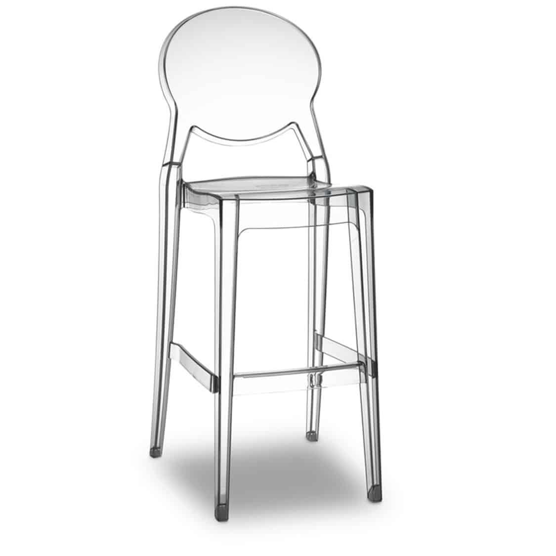 Igloo bar stool black DeFrae Contract Furniture Translucent