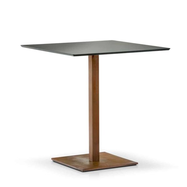 Inox Brass SquareTablebase Pedrali at DeFrae Contract Furniture 4402