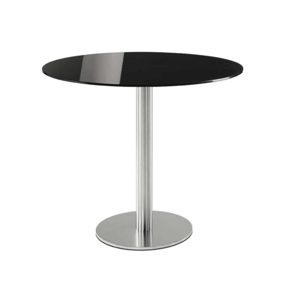 Inox Chrome Round 4411 Tablebase Pedrali at DeFrae Contract Furniture