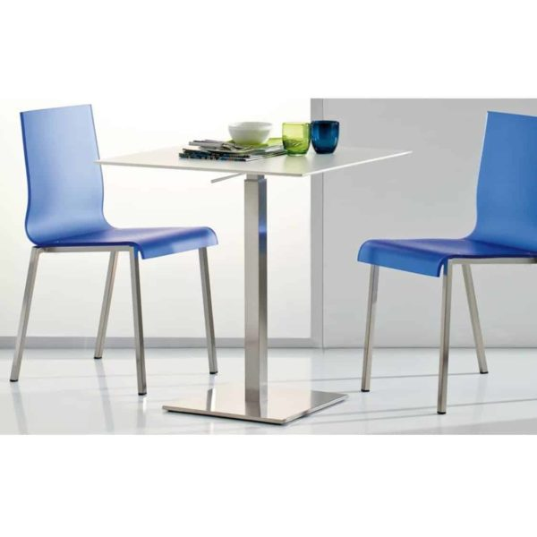 Inox Square Table Base 4411 Pedrali at DeFrae Contract Furniture Black In Situ