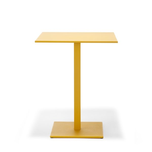 Inox SquareTablebase Pedrali at DeFrae Contract Furniture 4402 Yellow