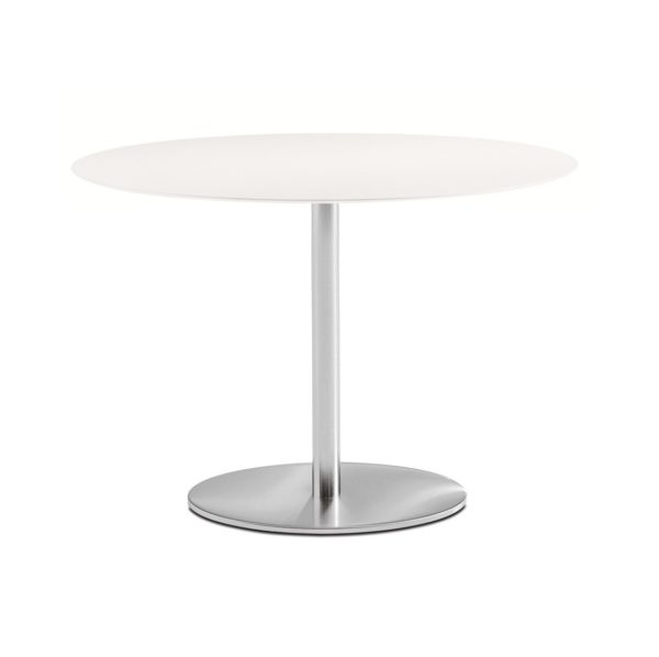 Inox Table Base Elliptical Chrome Base