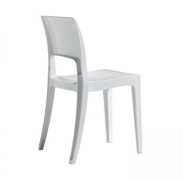 Ivy side chair Scab Design Isy Outdoor contact chair White