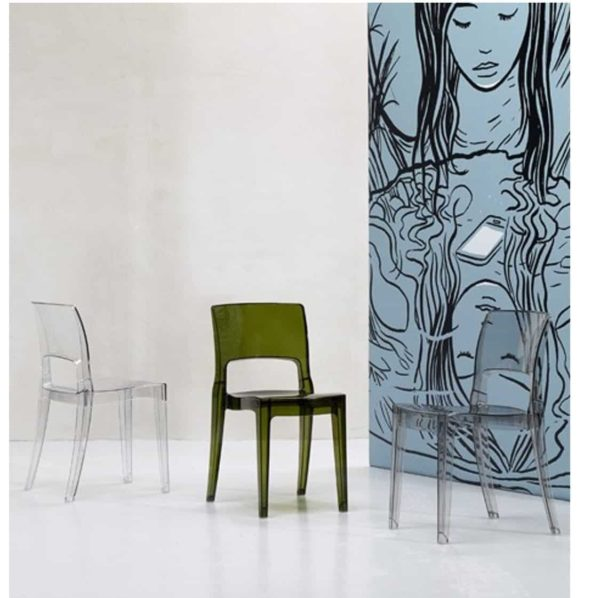 Ivy side chair Scab Design Isy Outdoor contact chair anti shock translucent in situ