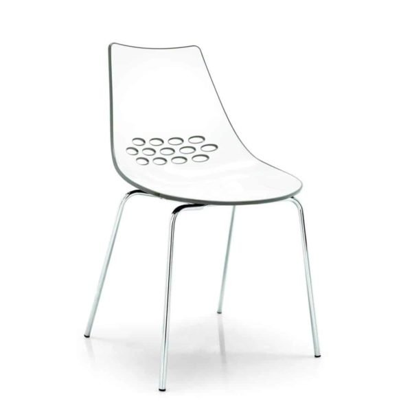 Jam Chair 4 Leg Metal Frame Connubia by Calligaris at DeFrae Contract Furniture