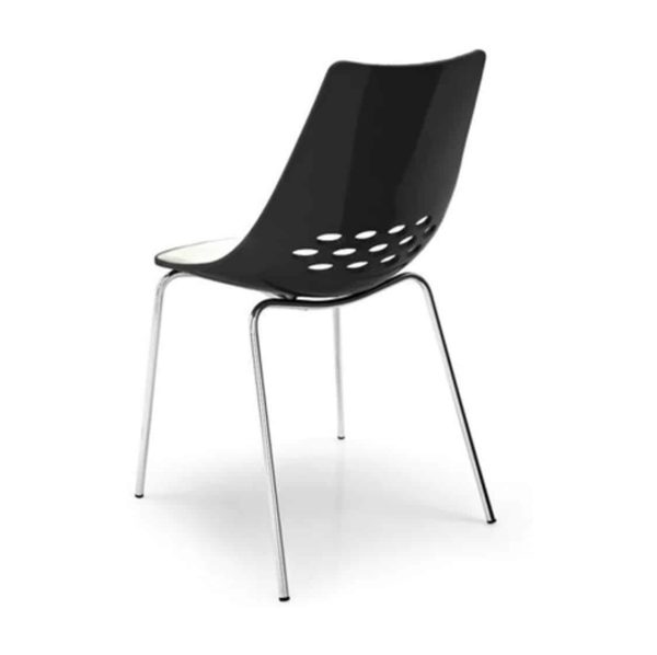 Jam Chair 4 Leg Metal Frame Connubia by Calligaris at DeFrae Contract Furniture Black