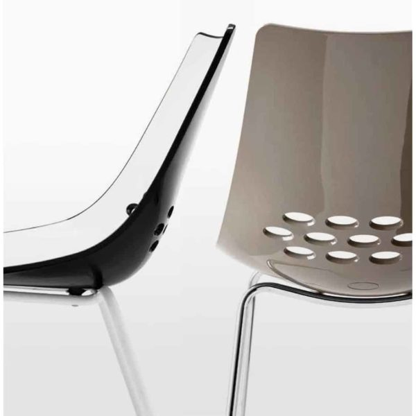 Jam Chair 4 Leg Metal Frame Connubia by Calligaris at DeFrae Contract Furniture Close Up