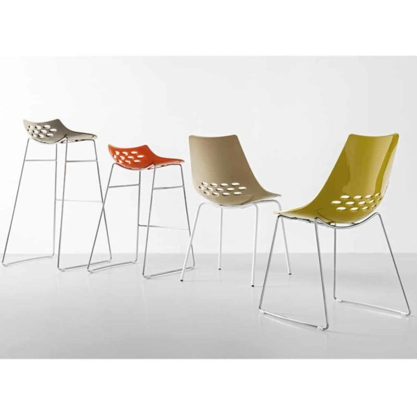 Jam Chair and Bar Stool Metal Frame Connubia by Calligaris at DeFrae Contract Furniture Range