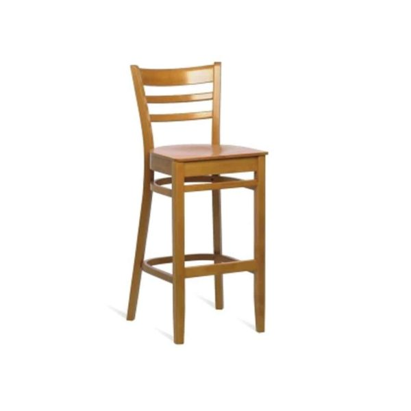 Jean Bar Stool Classic Wooden Bar Stool From DeFrae Contract Furniture
