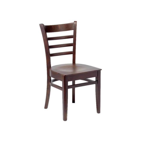 Jean Classic Wood Chair DeFrae Contract Furniture Walnut