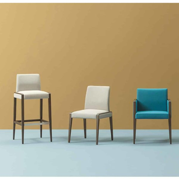 Jill Side Chair Armchair and Bar Stool Range Pedrali at DeFrae Contract Furniture