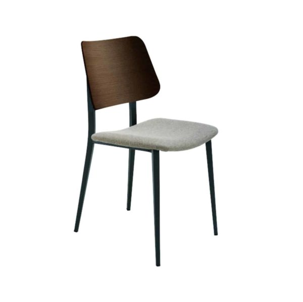 Joe Side Chair Midj at DeFrae Contract Furniture Wooden Frame Upholstered Seat Only