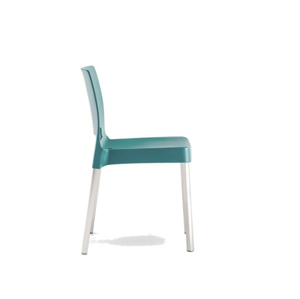 Joi Side Chair Pedrali at DeFrae Contract Furniture Aqua
