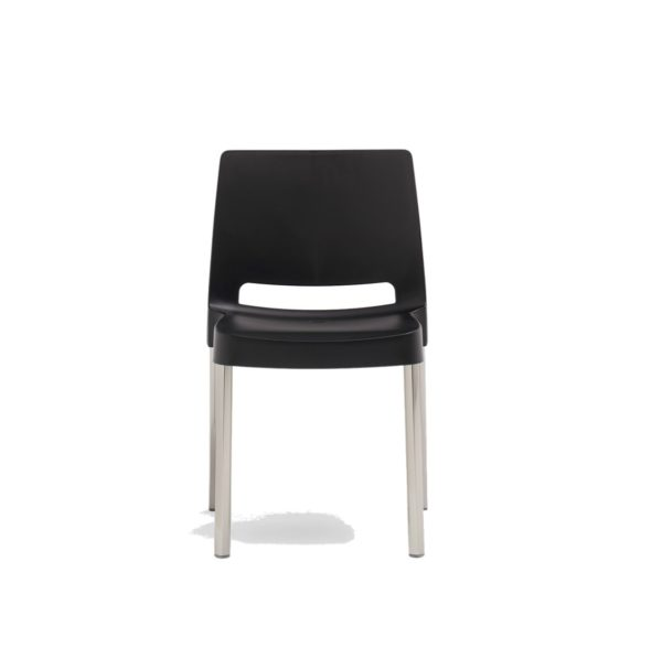 Joi Side Chair Pedrali at DeFrae Contract Furniture Black