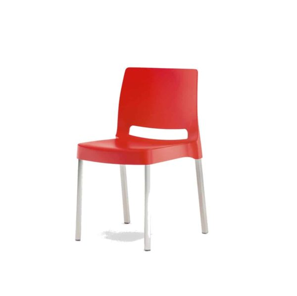 Joi Side Chair Pedrali at DeFrae Contract Furniture Red