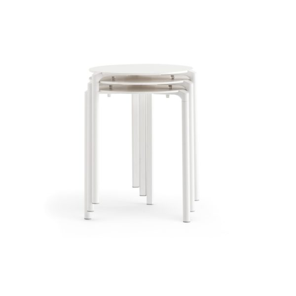 Jump Table TJ3 Pedrali at DeFrae Stackable Outdoor Complete Table White