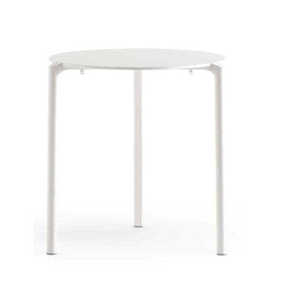 Jump Table TJ3 Pedrali at DeFrae Stackable Outdoor Complete Table Whitw